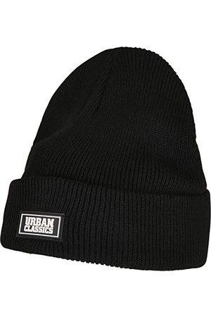 Urban classics Uniseks Plain Stitch Recycled Yarn czapka beanie, czarna, jeden rozmiar