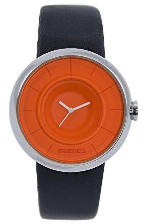 666Barcelona Męski analogowy zegarek kwarcowy ze skórzanym paskiem 66-292