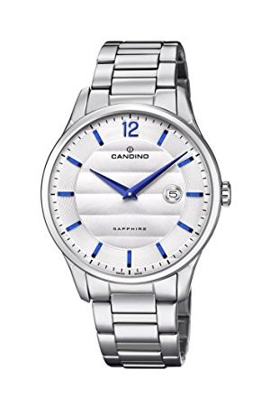 Candino Męski analogowy klasyczny zegarek kwarcowy z paskiem ze stali nierdzewnej C4637/1