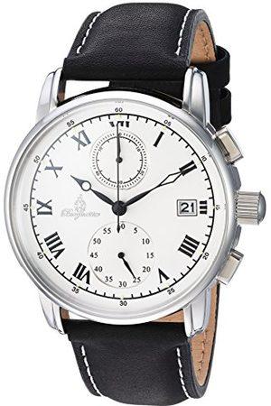 Burgmeister Męski chronograf kwarcowy zegarek ze skórzanym paskiem BM334-182