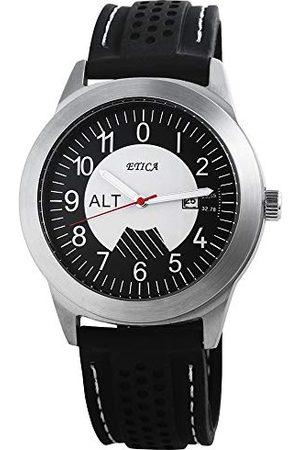 eTic Męski analogowy zegarek kwarcowy z silikonową bransoletką 20072100017