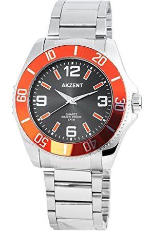 Akzent Unisex SS7421500047 zegarek kwarcowy dla dorosłych, analogowy, kwarcowy zegarek z bransoletką ze stali nierdzewnej