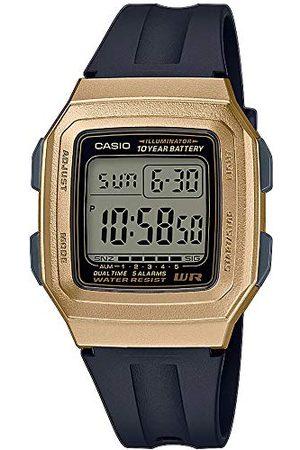 Casio Unisex cyfrowy zegarek kwarcowy z paskiem z żywicy F-201WAM-9AVEF