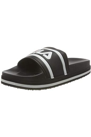 Fila Morro Bay Zeppa Fashion WMN damskie pantofle, - czarne paski - 41 EU