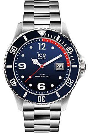 Ice-Watch ICE steel Marine silver - niebieski zegarek męski z metalową bransoletką - 015775 (Large)