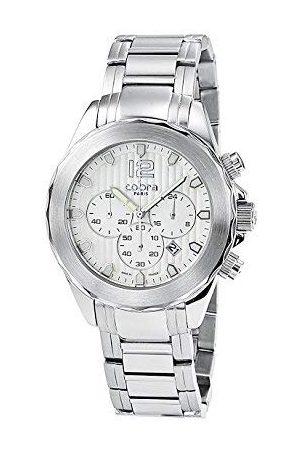 Cobra Mężczyzna Zegarki - Męski zegarek na rękę analogowy kwarcowy skóra CO620SSR4L3