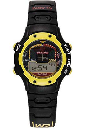 Digi-Tech Męski cyfrowy kwarcowy zegarek z kauczukowym paskiem DT102906