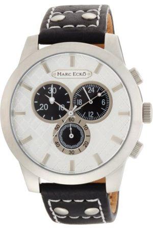 Marc Ecko Męski chronograf kwarcowy zegarek ze skórzanym paskiem E14539G1