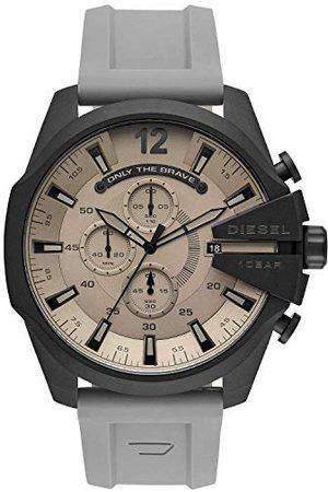 Diesel Męski analogowy zegarek kwarcowy z silikonowym paskiem DZ4496