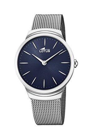 Lotus Męski analogowy klasyczny zegarek kwarcowy z paskiem ze stali nierdzewnej 18493/2