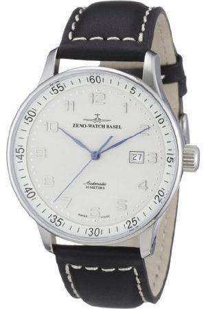 Zeno Męski zegarek na rękę XL X-Large Pilot analogowy automatyczny skóra P554-e2