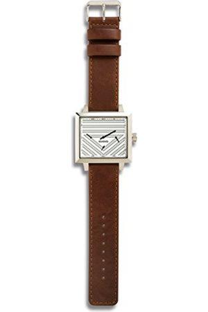 666Barcelona Unisex Dorośli analogowy zegarek kwarcowy ze skórzanym paskiem 66-031