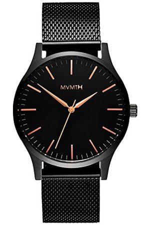 MVMT Męski analogowy zegarek kwarcowy z bransoletką ze stali nierdzewnej D-MT01-BBRG