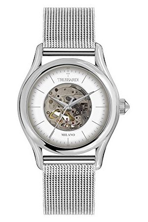 Trussardi Męski analogowy automatyczny zegarek z bransoletką ze stali szlachetnej R2423127001