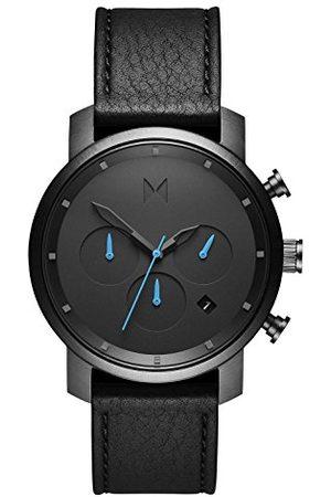 MVMT Męski analogowy zegarek kwarcowy ze skórzanym paskiem ze skóry cielęcej D-MC02-GUBL