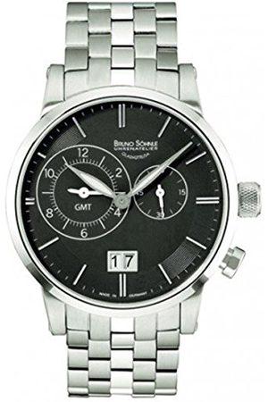 Soehnle Bruno Söhnle męski zegarek na rękę Milano Gmt analogowy kwarcowy stal szlachetna 17-13043-742