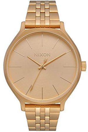 Nixon Zegarek na rękę Clique Stal nierdzewna All Gold