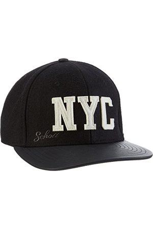 Schott NYC Męska czapka z daszkiem Capwool 2, czarna (Black/Black 90), One size