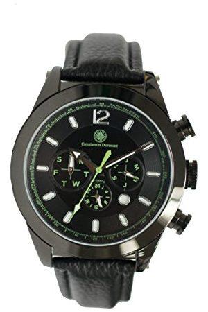 Constantin Durmont Męski zegarek na rękę Intent analogowy automatyczny skóra CD-INT2-AT-LTIPIP-BK