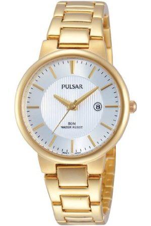 Pulsar Damski zegarek na rękę XS nowoczesny analogowy kwarcowy stal szlachetna powlekana PH7344X1