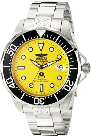 Invicta Męski zegarek automatyczny 3044 ze stali nierdzewnej Grand Diver, srebrny/czarny 3048 ŻÓŁTY