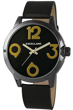 Excellanc Męski zegarek na rękę XL analogowy kwarcowy skóra 195071200150