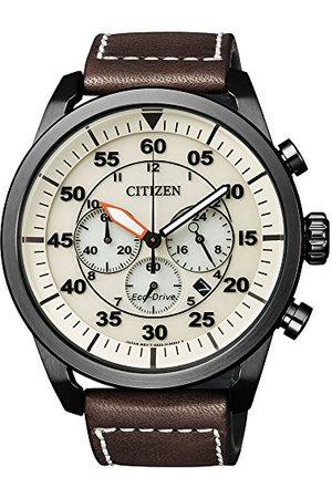 Citizen Męski chronograf kwarcowy zegarek ze skórzanym paskiem CA4215-04W