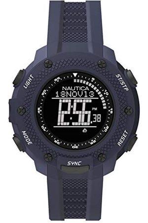 Nautica Męski zegarek cyfrowy z silikonowym paskiem NAI19524G
