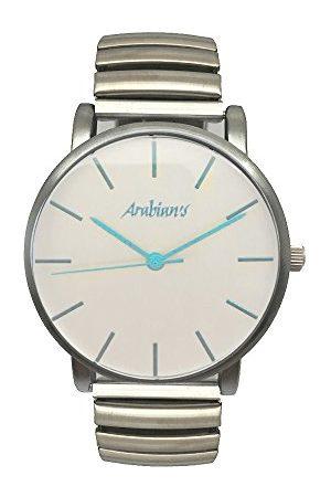 Arabians Męski analogowy zegarek kwarcowy z bransoletką ze stali szlachetnej DBA2272T