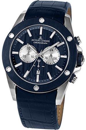 Jacques Lemans Męski analogowy zegarek kwarcowy ze skórzanym paskiem 1-1812C