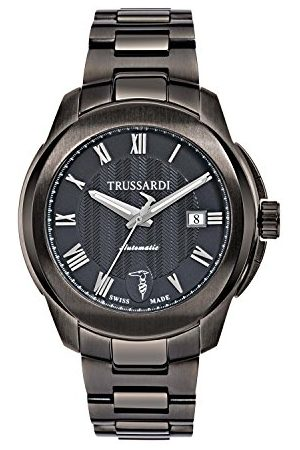 Trussardi Męski analogowy automatyczny zegarek z bransoletką ze stali szlachetnej R242310001