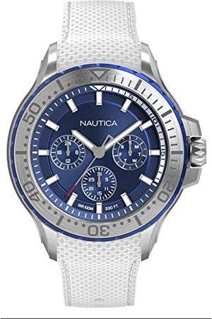 Nautica NAPAUC001 męski analogowy zegarek kwarcowy z silikonowym paskiem