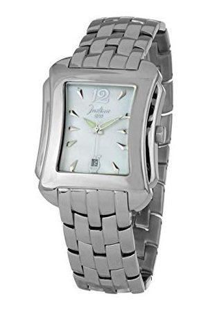 Justina 82550B męski zegarek na rękę analogowy kwarcowy z bransoletką ze stali szlachetnej