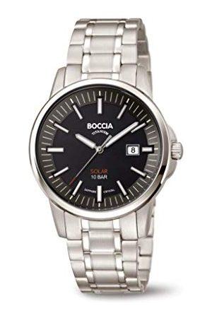 Boccia Męski analogowy zegarek kwarcowy z tytanową bransoletką 3643-04
