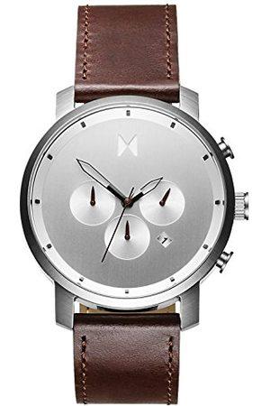 MVMT Męski analogowy zegarek kwarcowy ze skórzanym paskiem ze skóry cielęcej D-MC01-SBRL