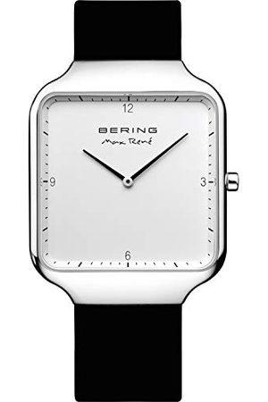 Bering Męski analogowy zegarek kwarcowy z silikonowym paskiem 15836-404