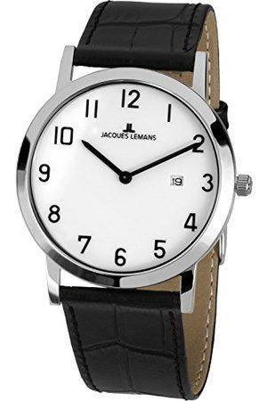 Jacques Lemans Unisex zegarek na rękę Classic analogowy kwarcowy skóra 1-1727C