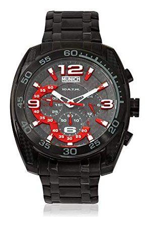 Munich Unisex dla dorosłych analogowy zegarek kwarcowy z bransoletką ze stali szlachetnej MU+134.1A