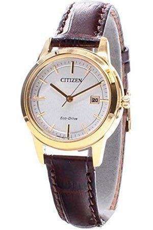 Citizen Damski analogowy kwarcowy zegarek ze skórzanym paskiem FE1083-02A