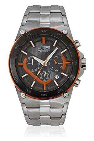 Munich Unisex dla dorosłych analogowy zegarek kwarcowy z bransoletką ze stali szlachetnej MU+138.1B
