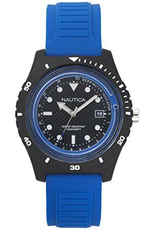 Nautica Męski datownik klasyczny zegarek kwarcowy z silikonową bransoletką NAPIBZ002