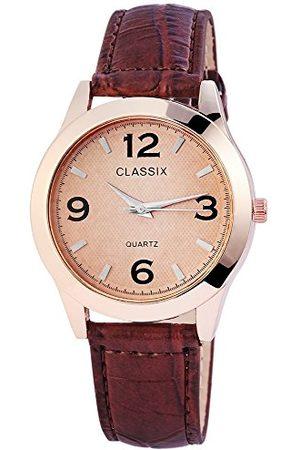 CLASSIX Męski analogowy zegarek kwarcowy ze skórzanym paskiem RP4783750010