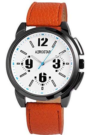 Aerostar Męski analogowy zegarek kwarcowy z imitacji skóry 21107200006