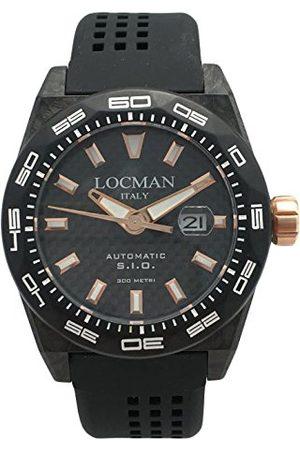 Locman Męski datownik klasyczny zegarek kwarcowy z gumową bransoletką 216V4CBCB5N0S2