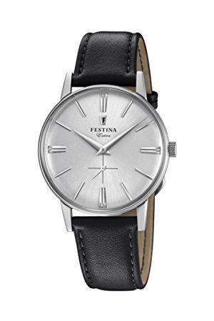 Festina Męski analogowy klasyczny kwarcowy połączony zegarek na rękę ze skórzanym paskiem F20248/1