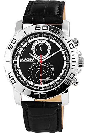 Aerostar Męski analogowy zegarek kwarcowy z imitacji skóry 21102100003