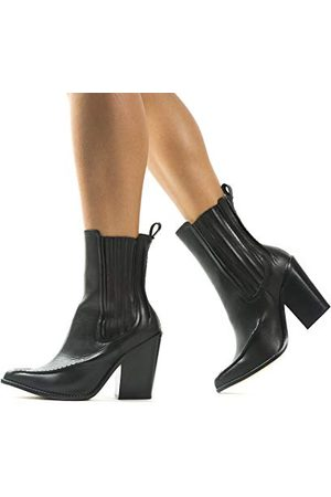 L'INTERVALLE L'Intervalle Damskie buty na łydki Monterey średni, Czarna skóra - 36 EU