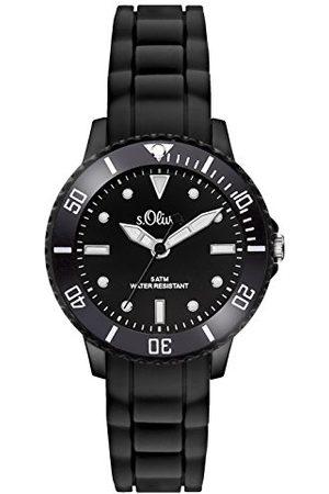s.Oliver Time zegarek kwarcowy unisex z silikonowym paskiem Taśma jeden rozmiar
