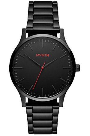MVMT Męski analogowy zegarek kwarcowy z paskiem ze stali nierdzewnej D-MT01-BL