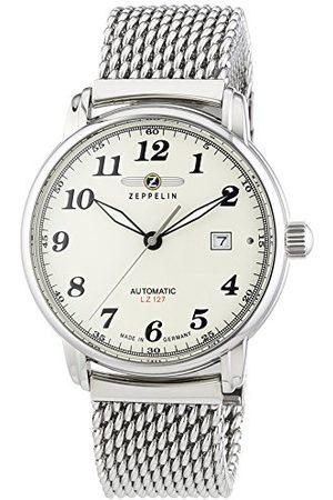 Zeppelin Męski zegarek na rękę XL LZ127 Graf analogowy automatyczny stal szlachetna 7656M5